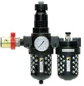 Master Pneumatic Vanguard Integral Filter Regulator Lubricator with shut off valve