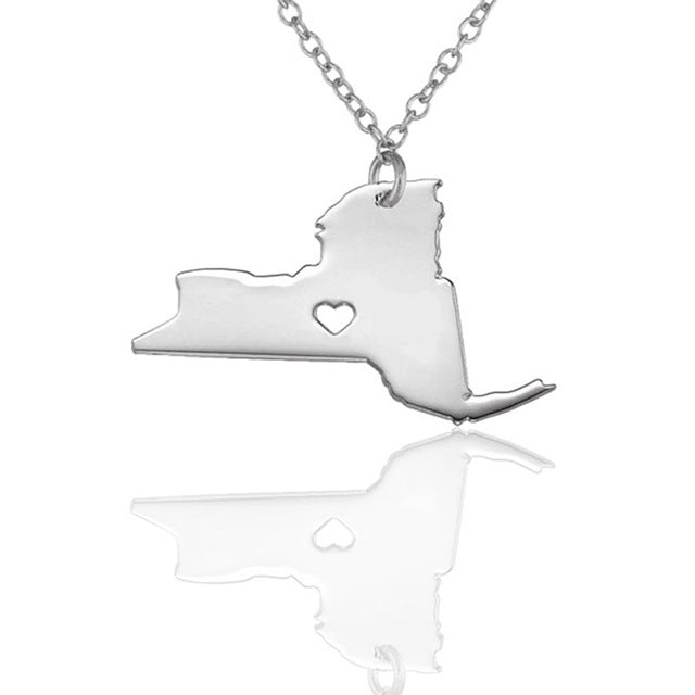 New York State Love Necklace
