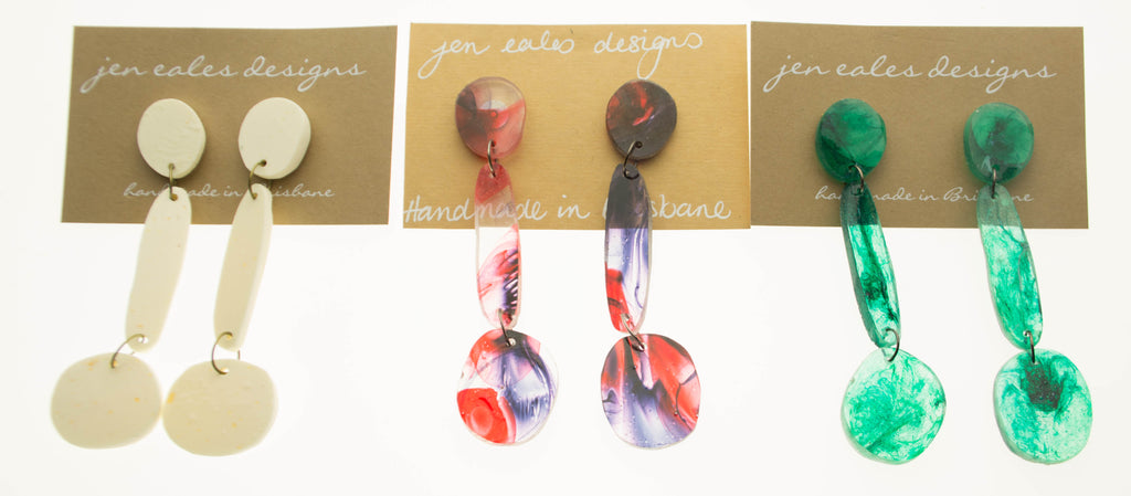Contemporary handmade dangle earrings