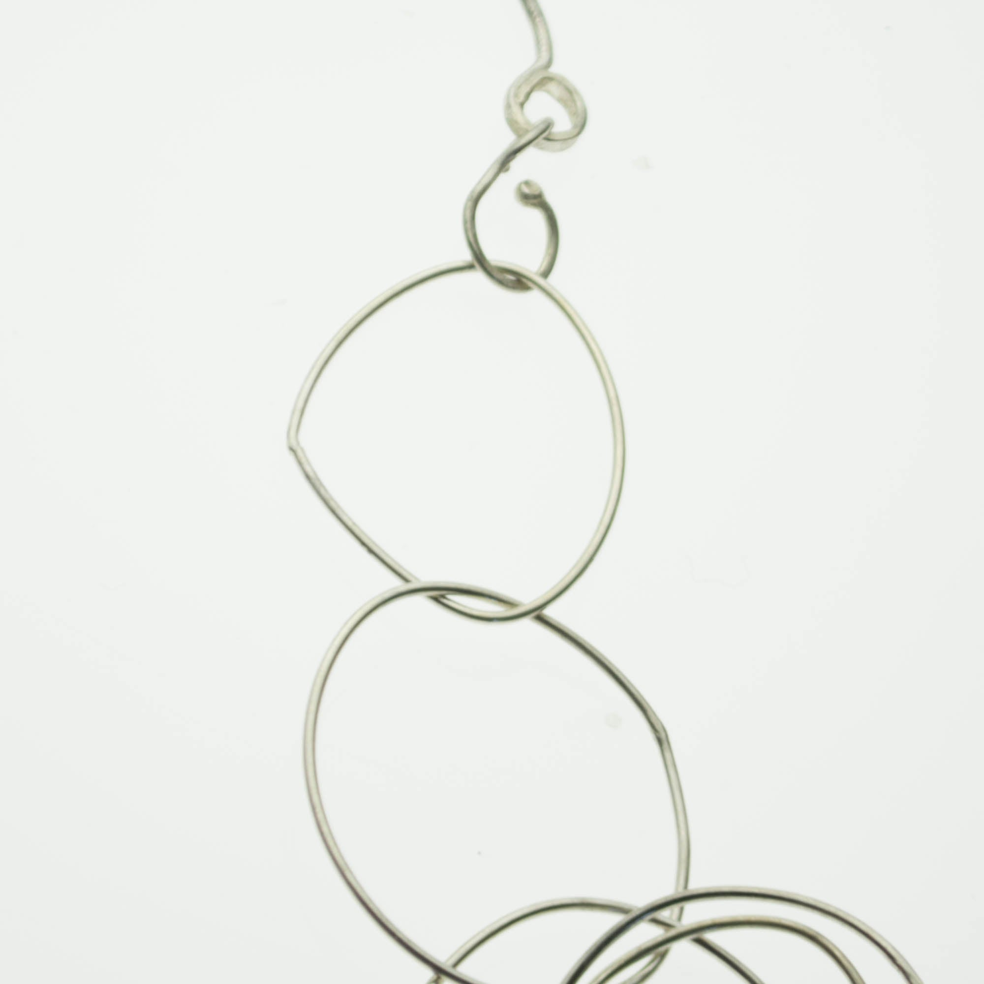 Sterling silver oversized loops