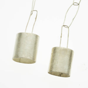 Brushed sterling silver bells and chain
