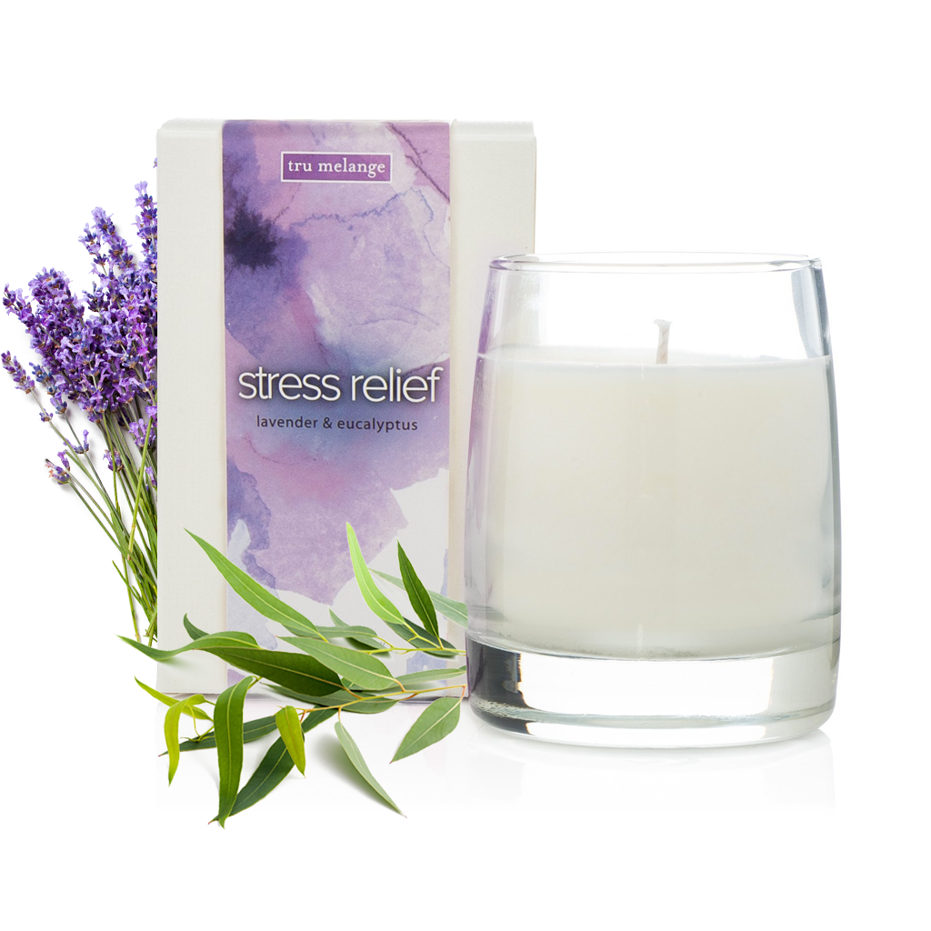 Stress Relief • lavender & eucalyptus essential oil candle • 12 oz jar