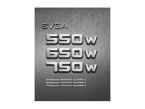 EVGA 550 N1, 550W, 2 Year Warranty, Power Supply 100-N1-0550-L1