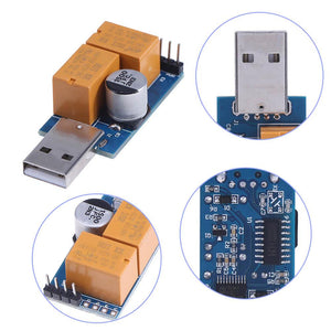 Double Relay USB Watchdog Card Unattended Automatic Restart Timer Reboot For PC
