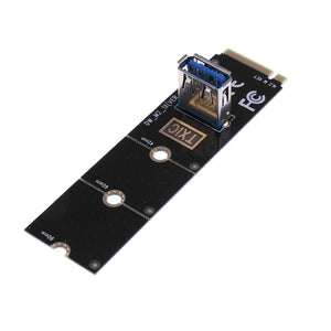 PCB M.2/NGFF to USB3.0 Port Converter Adapter Graphic Card Cable Extender Card