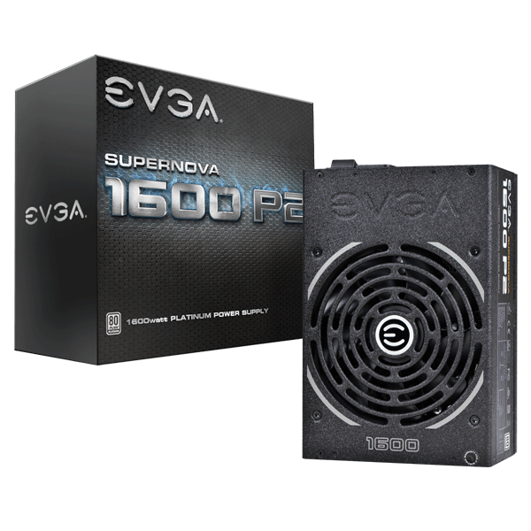 EVGA SuperNOVA 1600 P2 Power Supply - 80 PLUS Platinum - 1600W