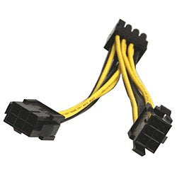 Dual 6 Pin Female To 8 Pin Male Cable For GPU Graphics Video Card