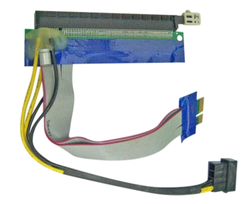 <transcy>15 cm PCI-Express Kabel X1 bis X16 Riser Card Extender mit 4 Kabel Molex Power</transcy>