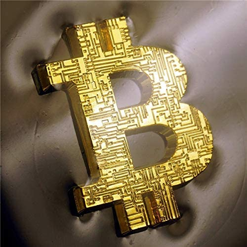 Bitcoin Shape bit Commemorative Coin Gold Color