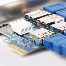 PCI-E Express 1X to 4 PCI-E 16X Slots Extender Riser Card External Adapter