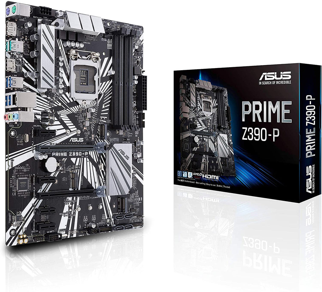 ASUS Prime Z390-P LGA1151 (Intel 8th and 9th Gen) ATX Motherboard for Cryptocurrency Mining(BTC) with Above 4G Decoding, 6xPCIe Slot and USB 3.1 Gen2