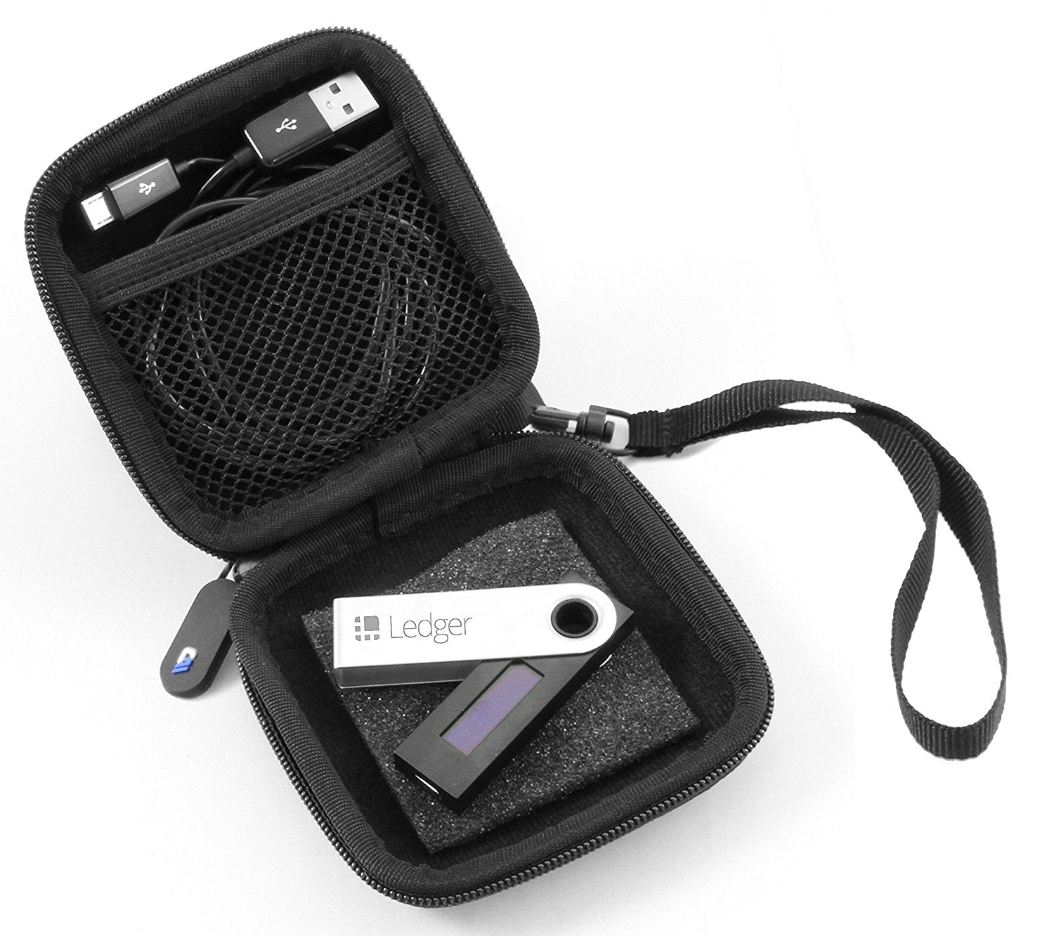 Casematix Carry Case For Cryptocurrency Bitcoin Hardware Wallet Fits Ledger Nano S Satoshi Labs Trezor