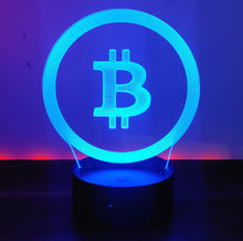 Bitcoin Merch CLEAR BITCOIN USB 3D Night Light 7 Color Change LED Desk Lamp Touch Room Décor Gift