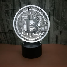 Bitcoin Merch USB 3D Night Light 7 Color Change LED Desk Lamp Touch Room Décor Gift