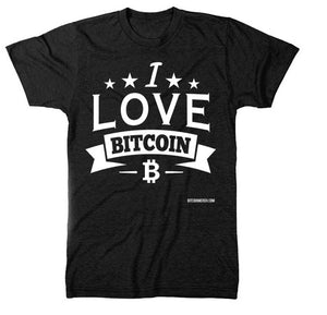 """I Love Bitcoin"" Short Sleeve T-Shirt Black"