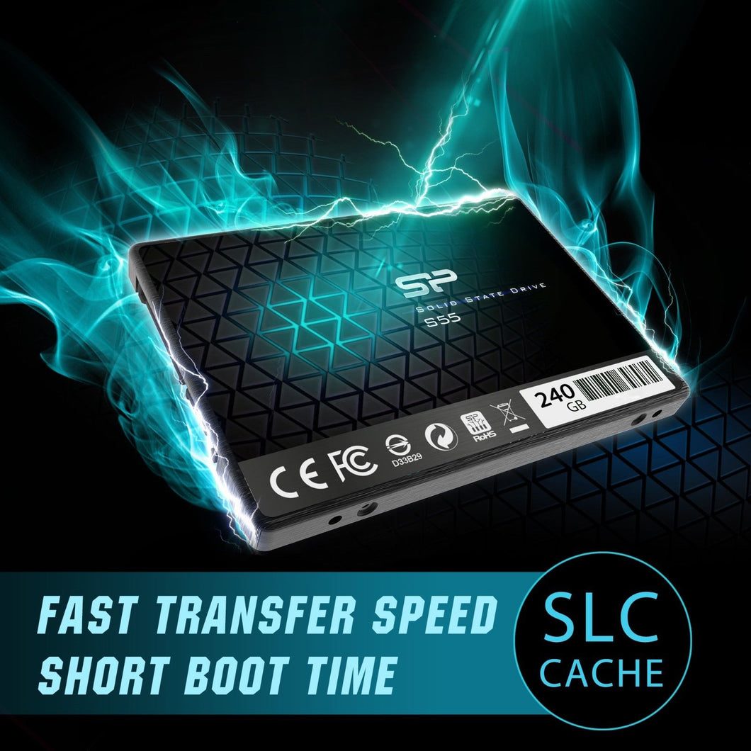 Silicon Power 60GB SSD S55 TLC (SLC Cache Performance Boost) SATA III 2.5