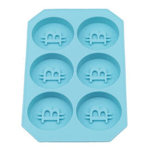 Bitcoin Silicone Ice Cube Maker Mold Party Tray - Brown