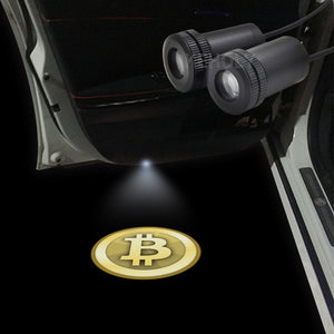 Car Door Bitcoin Projectros 2pcs LED