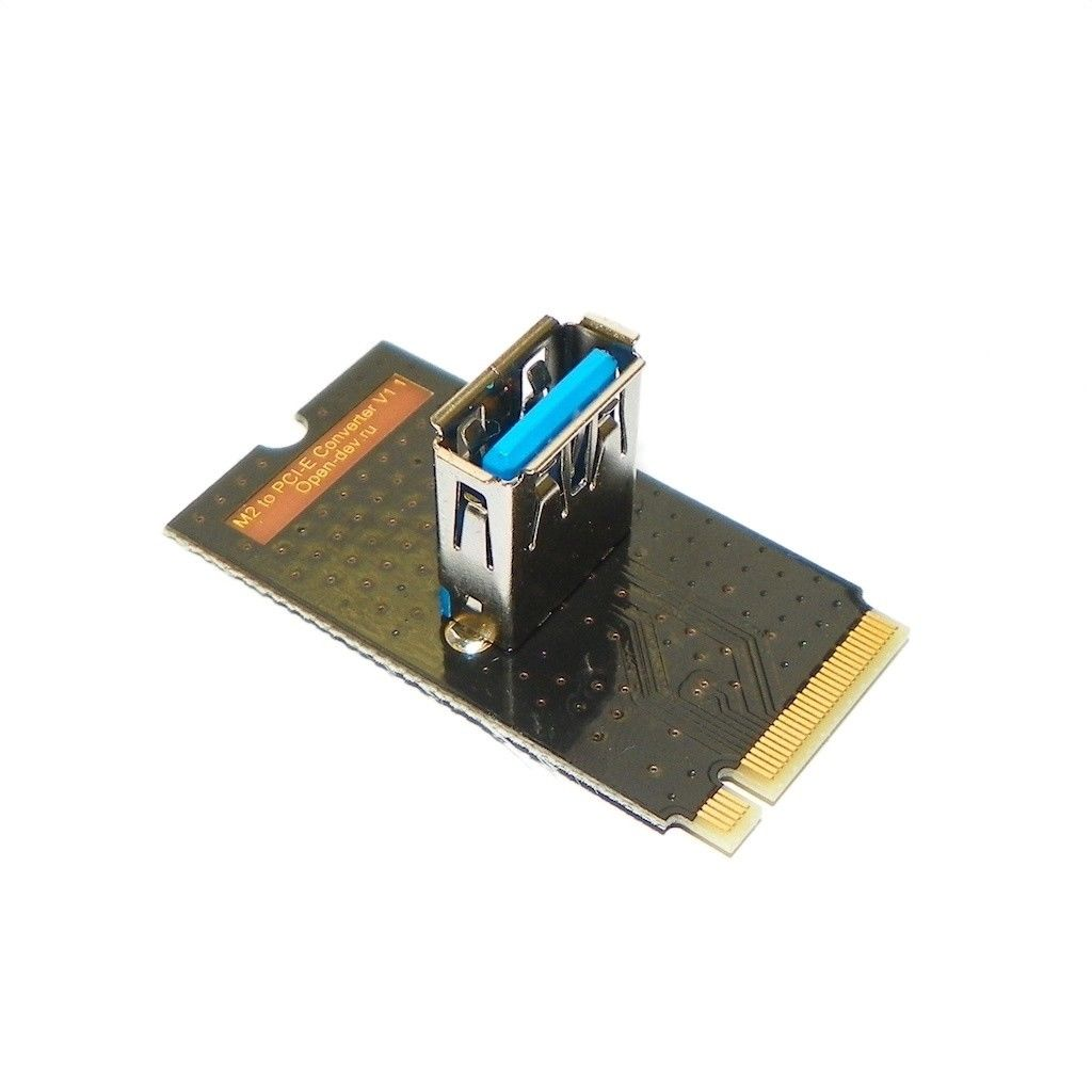 M2-PCI-E-RISER ADAPTOR to connect an additional GPU for mining BTC, ETH