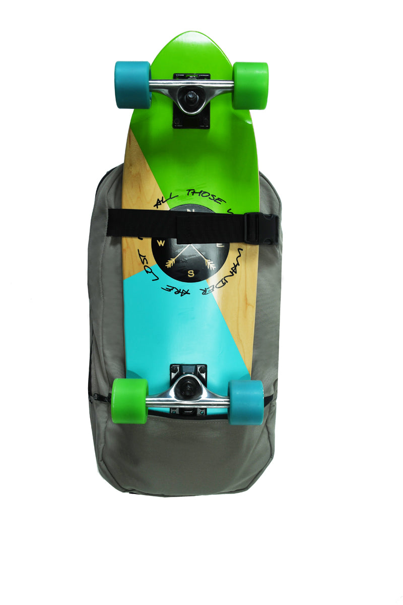 Skateboard Bag and Backpack - 100% Recycled Plastic Fabric