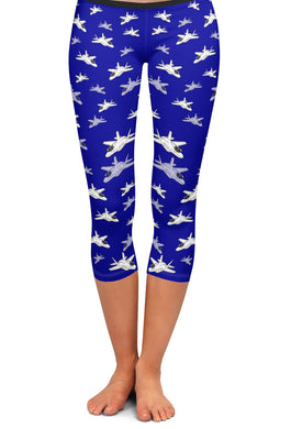 F-35 Detailed Capri Leggings