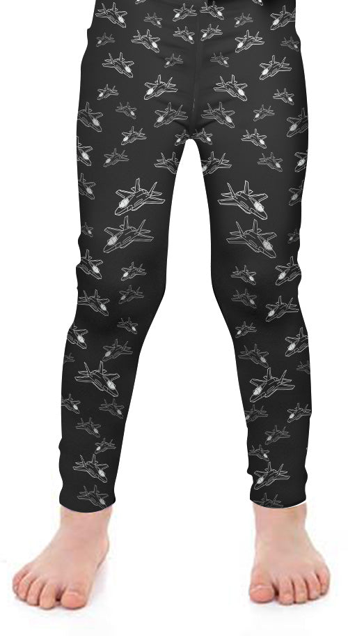F-35 Kids Detailed Leggings