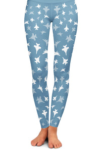 F-18F Silhouette Yoga Leggings
