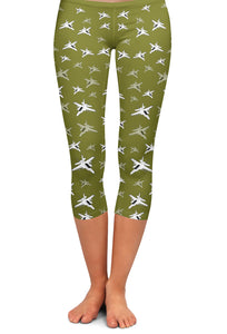 F-18F Detailed Capri Leggings
