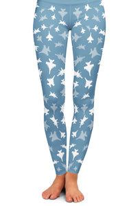 EA-18G Silhouette Yoga Leggings