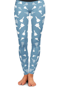 SR-71 Silhouette Yoga Leggings
