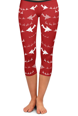 C-17 Santa Capri Leggings