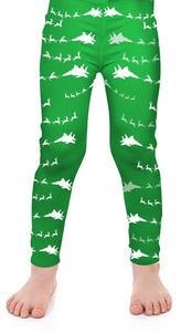 F-15C Santa Kids Leggings