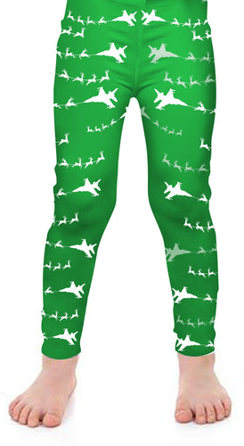 F-16 Santa Kids Leggings