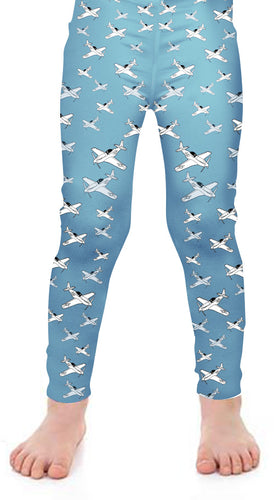 P-51 Detailed Kids Leggings