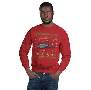 Airplane Ugly Christmas Sweatshirt