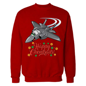 """Happy Chemtrails"" Christmas Sweatshirt"