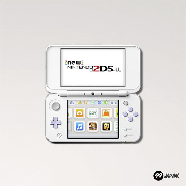 New Nintendo 2DS LL - White × Lavender - 99Japan