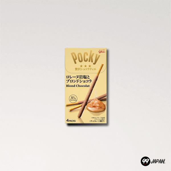 A pack of Pocky Blond Chocolate Salty Caramel.
