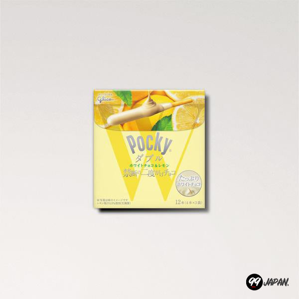 Pocky - Double White Chocolate Lemon - 99Japan
