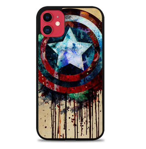 captain america shield art F0155 iPhone 11 Pro Max Case