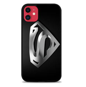 Superman Silver Logo Z1291 iPhone 11 Pro Max Case