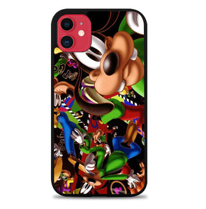 goofy disney collage Z1471 iPhone 11 Pro Max Case