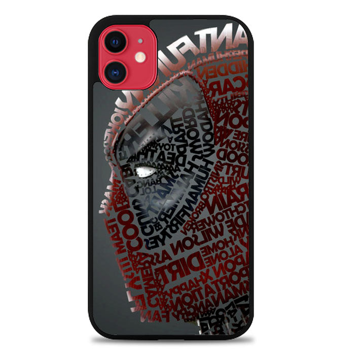 Deadpool typography Z1684 iPhone 11 Pro Max Case