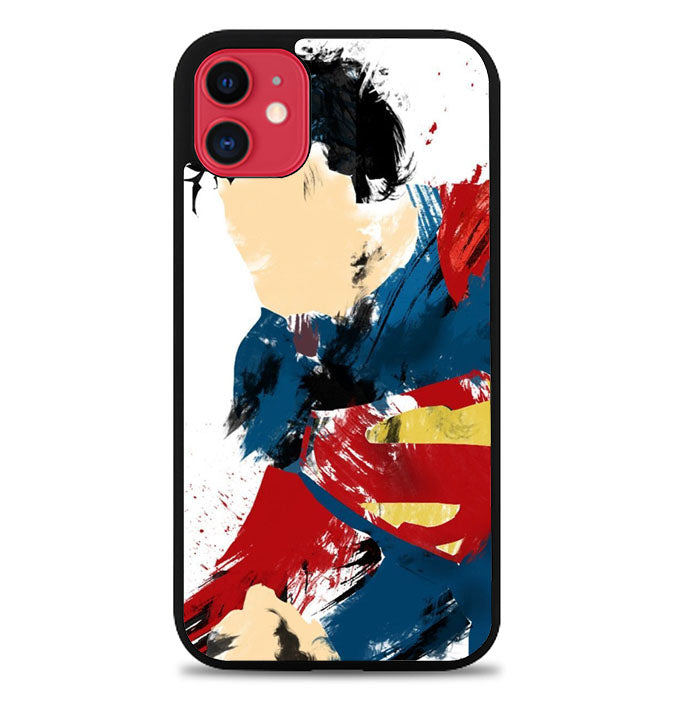 superman brush painting Z1698 iPhone 11 Pro Max Case