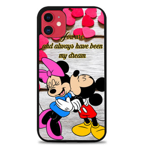 mickey and minnie mouse kissing Z2310 iPhone 11 Pro Max Case