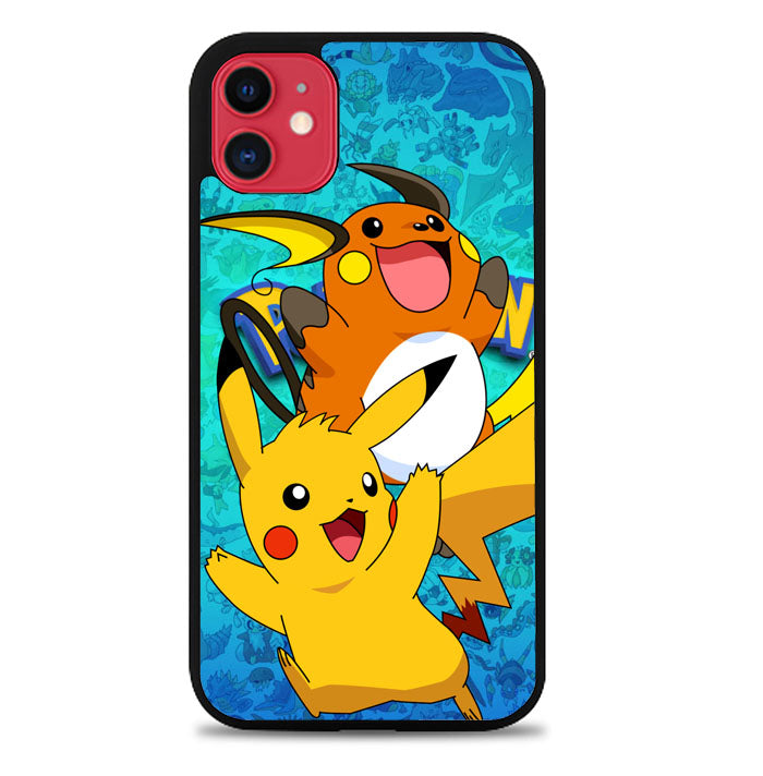 pikachu raichu Z2646 iPhone 11 Pro Max Case