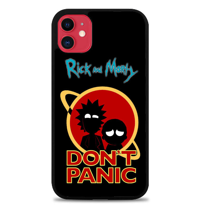 Rick and Morty Dont Panic Z4035 iPhone 11 Pro Max Case