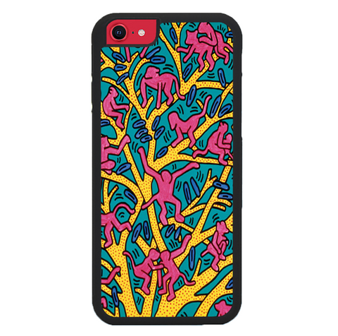 Keith Haring X4840 iPhone SE 2020 Case
