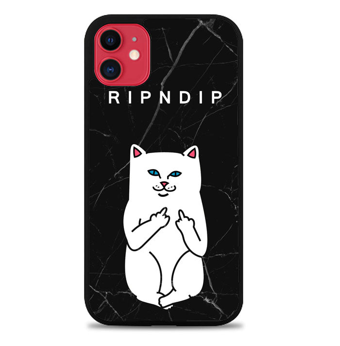 ripndip white cat with midle finger L0940 iPhone 11 Pro Max Case