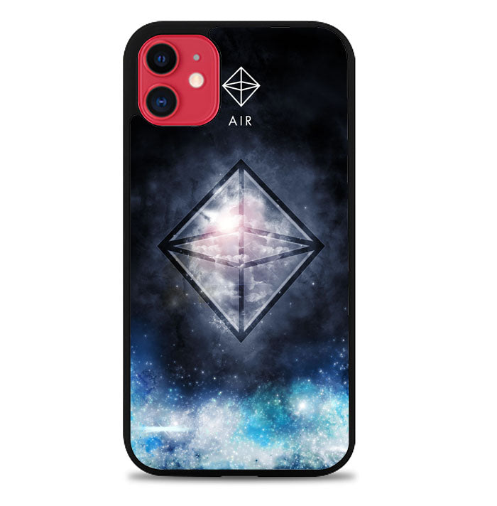 Sacred Geometry Symbol For Air L1283 iPhone 11 Pro Max Case